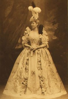 Countess of Kilmorey, dressed as La Comtesse du Barri, mistress of Louis XV, for the Duchess of Devonshire's Jubilee Costume Ball of 1897.