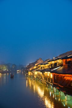 Wuzhen, China - Beautiful Night View