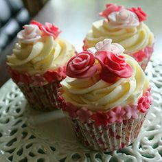 Pretty Rose cupcakes made by Wild Daisy Catering. www.facebook.com/wilddaisy