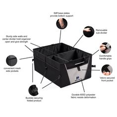 Amazon.com: Premium Trunk Organizer by Busy Life - Highest Rated Car Organizer! Great Backseat Organizer for Car Truck or SUV. Sturdy Construction and Collapsible Design - Perfect Car Trunk Organizer for all Cargo. Enhance Your Travel Experience Today!: Automotive