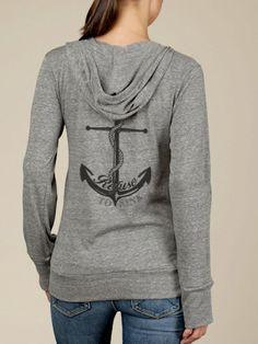 Refuse to Sink Anchor Hoodie Lightweight Sweatshirt.