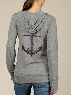 Refuse to Sink Anchor Hoodie Lightweight Sweatshirt.