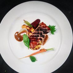 @wibinallendra posted via #chefsroll - pork belly with grilled honey pineapple- #rollwithus