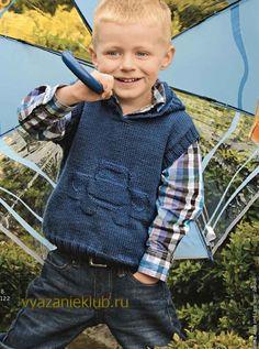Жилет с капюшоном для мальчика - Для мальчиков - Каталог файлов - Вязание для детей