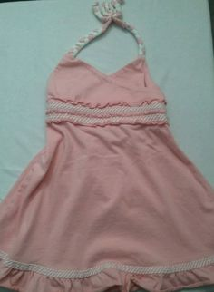 Old Navy Toddler Girls Pink Halter Top Cotton Dress Size 12 - 18 Months #OldNavy #EverydayCasualParty