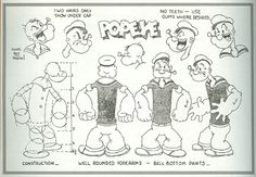 silhouette images of popeye the sailor man - Google Search