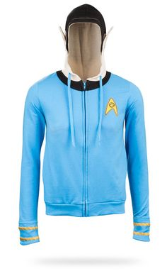 Think Geek - Spock Costume Hoodie - A hoodie is a logical choice for chilly weather. If you want to turn the logic up to you should definitely make it a Spock Hoodie. This one even has pointy ears! Lady Bug, Vintage Clipart, Estilo Geek, Halloween Karneval, Nerd Fashion, Punk Fashion, Lolita Fashion, Geek Chic, Star Trek