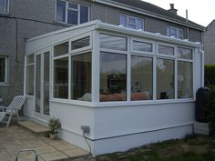 White uPVC DIY Lean-to Conservatory. Sunlounge Conservatories Manufactured and supplied by ConservatoryLand DIY Conservatories UK. Conservatory pictures kindly supplied by our customers.
