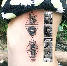 #tatoo beautiful cat and dog