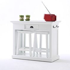 Rustic White Breakfast Table and Stools White Furniture, Cheap Furniture, Kitchen Furniture, Industrial Furniture, Furniture Stores, Urban Furniture, Classic Furniture, Discount Furniture, Furniture Ideas