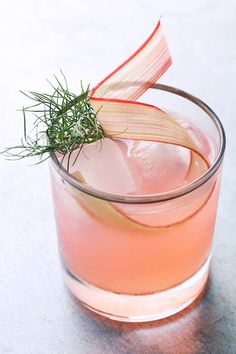 Rhubarb, Fennel & Vermouth Cocktail / HonestlyYUM