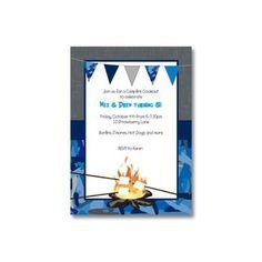 Backyard Campfire Birthday Invitations