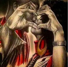 """Black Art is Beautiful! 'What Love Looks Like' by Orlando J. Black Artwork, Wow Art, Afro Art, Beauty Art, Beautiful Artwork, African Art, African American Artwork, Female Art, Amazing Art"