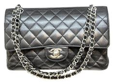 Get one of the hottest styles of the season! The Chanel Caviar Quilted Medium Double Flap Shoulder Bag is a top 10 member favorite on Tradesy. Save on yours before they're sold out! Chanel Shoulder Bag, Black Shoulder Bag, Chanel Double Flap, Chanel Caviar, Medium, Top, Bags, Style, Fashion
