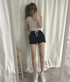 summer korean fashion which looks fabulous 04075 Ulzzang Fashion, Ulzzang Girl, Asian Fashion, Girl Fashion, Girl Outfits, Cute Outfits, Fashion Outfits, Korean Summer Outfits, Skinny Inspiration