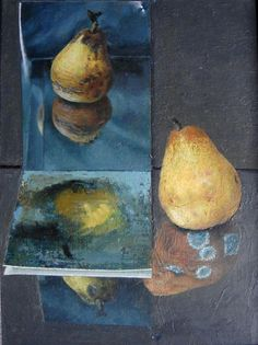 Geoff Yeomans trompe l oeil still life pears signed and label verso Welsh art Be Still, Still Life, Art For Art Sake, Welsh, Fine Art, Pears, Mood Boards, Authenticity, Artworks