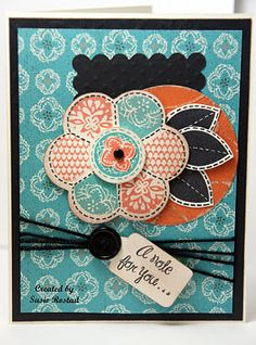 Just for You stamp set w/ Stella #CTMH - great paper and great stamps!