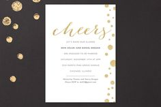 Champagne Bubbles Engagement Party Invitations by Erin Deegan at minted.com