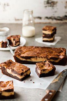 Salted Caramel Stuffed Brownies