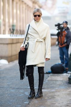 Chic outerwear: see all of the best coats spotted during New York Fashion Week.