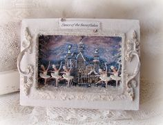 Christmas Diorama Dance of the Snowflakes by Shabby Chic Christmas, Retro Christmas, Christmas Holidays, Christmas Decorations, Christmas Ornaments, Christmas Projects, Holiday Crafts, Christmas Shadow Boxes, Minis