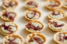Tartlets with Gorgonzola and caramelized red onions