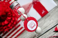 pudełeczko butelka z cukierkami - partymika Christmas, Xmas, Navidad, Noel, Natal, Kerst