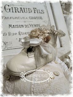 Baby Shoe Pincushion!