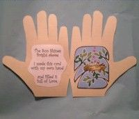 back to school crafts for preschooler | Celebrate the coming of Spring with this Handprint Card and Poem. A ...