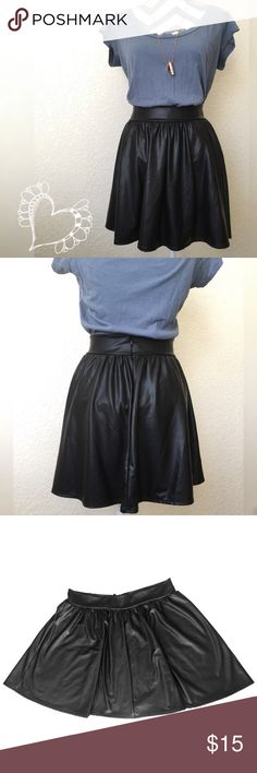 Edgy Faux Leather Skirt Edgy Windsor Faux Leather Skirt! Easily dressed up or down, so many ways to wear! WINDSOR Skirts Mini