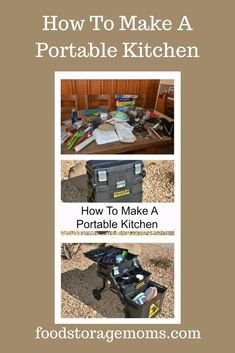 I have a printable list on how to put together a portable kitchen for emergencies or camping. Survival Food, Outdoor Survival, Survival Prepping, Emergency Preparedness, Survival Skills, Survival Hacks, Emergency Planning, Emergency Preparation, Survival Stuff