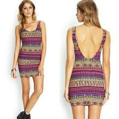 Forever 21 tribal sleeveless scoopback bodycon dress  This is my favorite color i have this in sleeveless type but I'm still wishing to have this in sleeve. I'm really hoping to have you soon.