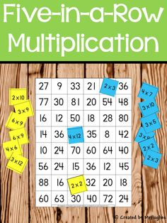 Multiplication Facts - Five-in-a-Row
