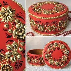 Perníková kazeta * krásně zdobená zlatým květinovým motivem ♥♥♥