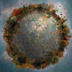 Miniature Worlds Digitally Assembled from Hundreds of Photographs by Catherine Nelson planets Earth digital collage