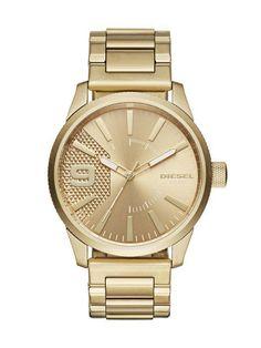 Diesel Men s Rasp DZ1761 Gold Stainless-Steel Japanese Quartz Fashion Watch   9261bf9eb9