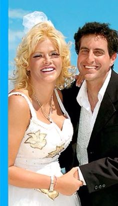 .Anna Nicole Smith and Howard Stern  wedding. 2006