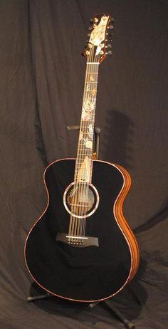 Stehr Guitars 12 string Jumbo Guitar with Vegas inlay --- https://www.pinterest.com/lardyfatboy/