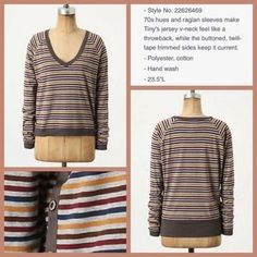 "Anthropologie Tops - Anthro ""Striped Era Top"" by Tiny"