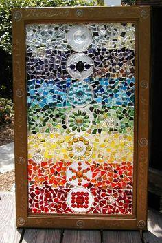 This Garden Glass Window is called 'Chakra Window'.