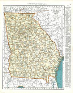 Map of Georgia Georgia Hotels Lodging Interstate Maps