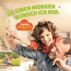 """Ja richtig: """"So einen Morgen wünsch ich mir."""" Eine Zeitschrift für Kinder aufschlagen und der ultrasüßen Giuseppe lacht mir entgegen! Giuseppe Bonvissuto ist in der in der aktuellen Ausgabe von Familie & Co, macht Werbung für das kostenlose Wissensspiel."""