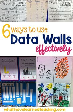 Do you use data walls in your school? Here are 6 tips that encourage anonymity, collaboration, and goal setting. Classroom Organization, Classroom Management, Classroom Ideas, Classroom Data Wall, Classroom Board, Classroom Projects, Classroom Design, Music Classroom, Future Classroom