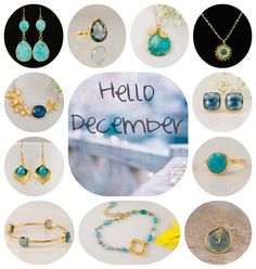 December's birthstones are Turquoise & Blue Topaz.