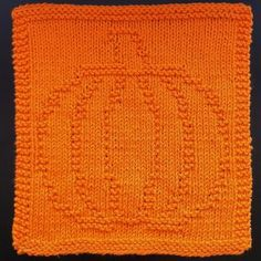 Knitted pumpkin design.
