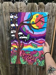 Easy Canvas Art, Simple Canvas Paintings, Small Canvas Art, Hippie Painting, Trippy Painting, Arte Hippy, Psychadelic Art, Psychedelic Drawings, Sharpie Art