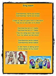 Music For Kids, Kids Songs, Poetry Lessons, Afrikaans, Stories For Kids, Story Time, Kids And Parenting, Book Lovers, Poems