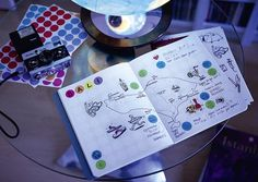 dot on diary - #journey  Das #Reisetagebuch mit den bunten #dots   #klebepunkte #Illustrationen #Tagebuch #diy #doton #diary #madeingermany
