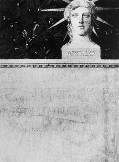 Head of Apollo, Historisches Museum der Stadt Vienna, by Gustav Klimt. Believed to be a poster draft for the Internationale für Musik und Theaterwesen at the Rotunde in Vienna 1892.