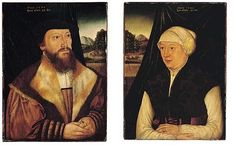 1544 - Hans Brosamer (about 1500 - about 1554)  Portrait of a gentleman and his wife